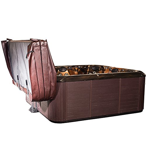 Hot Tub Spa Cover Lift & Storage Caddy / Heavy-Duty Top Lifter & Valet w/Slide-Under Mounting ()