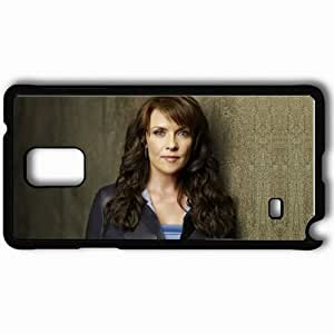 taoyix diy Personalized Samsung Note 4 Cell phone Case/Cover Skin Amanda Tapping Actress Celebrity Blonde Black