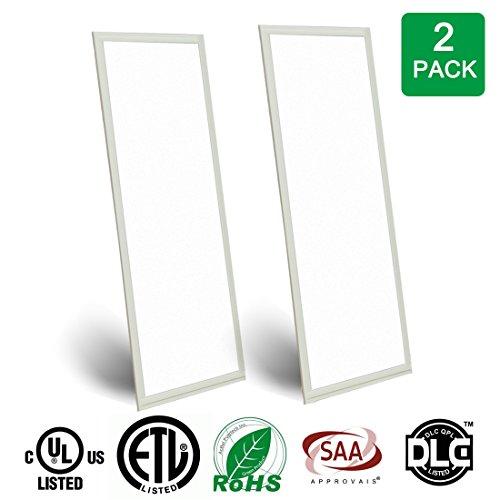 LEDMO LED Panel Light , 40W-6800Lm-Cool White(6000k-6500k)-4x1Ft ,Ceiling light(2 Pack)