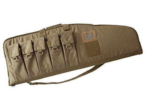 38-Inch AR15/M4 Tactical Rifle Case with Five Magazine Pouches 12131 (COYOTE, 38'')