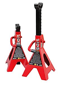 Torin Big Red Steel Jack Stands: 2 Ton Capacity, 1 Pair