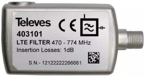 Televes 403101 - Filtro lte57 f 470-766mhz uhf c21-57 ...