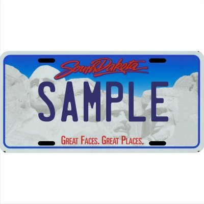 Custom Personalized Metal License Plate Your Name Your State - Choose from All 50 States (South Dakota, 6'' x 12'' Standard Thickness (.030''))