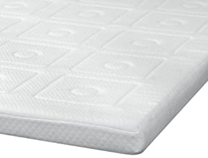 sensorpedic luxury 3inch quilted memory foam mattress topper king size white
