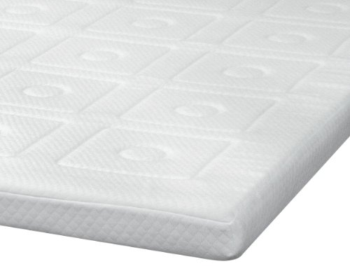 SensorPEDIC Luxury Extraordinaire 3-Inch Quilted Memory Foam Mattress Topper, King Size, White by SensorPEDIC