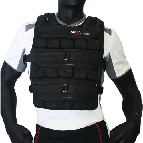MIR - ADJUSTABLE WEIGHTED VEST (LONG STYLE) (Pro, 60lbs) by MiR Weighted Vest