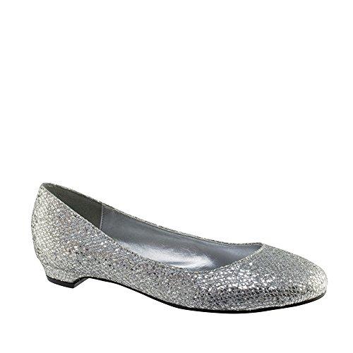 Retouches 415wo Tamara Argent Synthétique Chaussures Plates Des Femmes