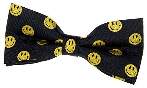 Retreez Happy Smiley Face Emoticon Pre-tied Bow Tie (4.5