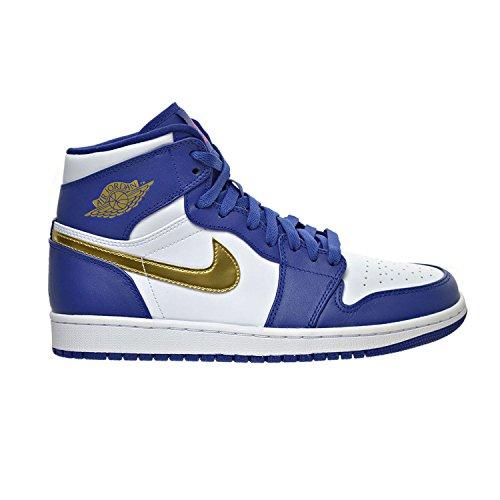 Air Jordan 1 Retro High Men's Shoes Deep Royal Blue/Metallic Gold Coin/White/Infrared 23 332550-406 (8.5 D(M) US)