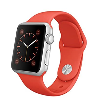 Apple Watch Sport 42mm Silver Aluminum Case with Orange Sport Band
