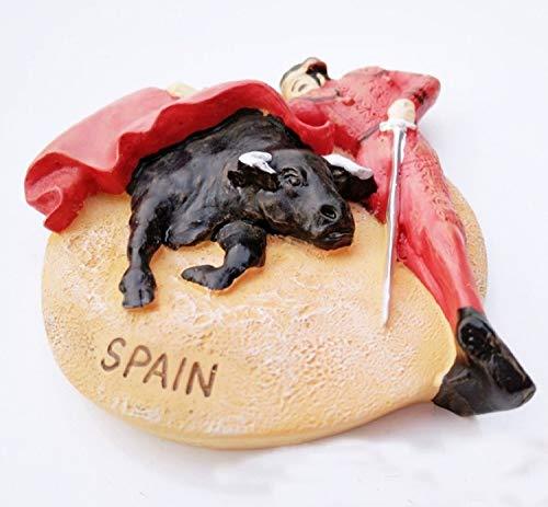 Bull Fighting in Spain High Quality Resin 3d Fridge Magnet