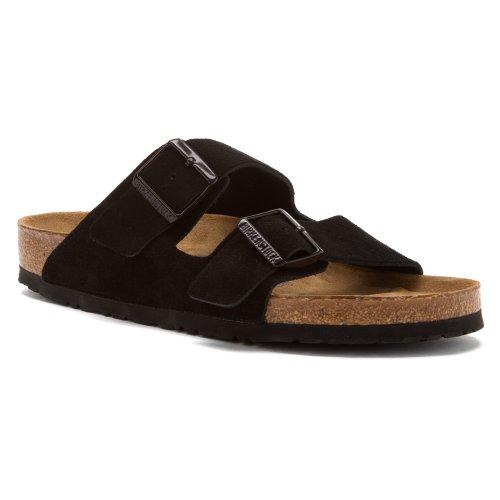 Birkenstock Unisex Arizona Soft Footbed Sandal  Black Suede  42 M Eu 11 11 5 B M  Us Women 9 9 5 B M  Us Men