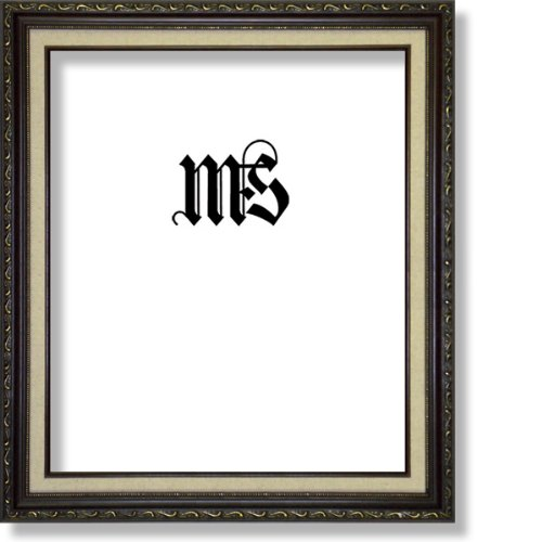 Imperial Frames 614B1620 16 by 20-Inch/20 by 16-Inch Picture/Photo Frame, Dark Gold with Floral Design and a Canvas - Magnet Frame Floral