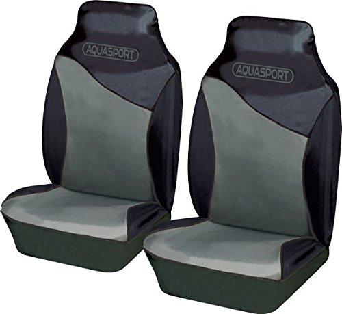 Suzuki Grand Vitara Aquasport/ /Fundas para asiento delantero de coche Tear resistente tejido impermeable en negro /& gris 1/par