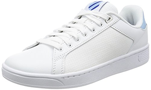K-swiss Damen Clean Court Cmf Sneaker Schwarz (wht / Dreamblue / Limoges)