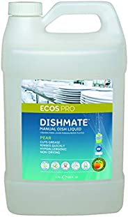 Earth Friendly Products Proline PL9720/04 Dishmate Pear Ultra-Concentrated Liquid Dishwashing Cleaner, 1 Gallo