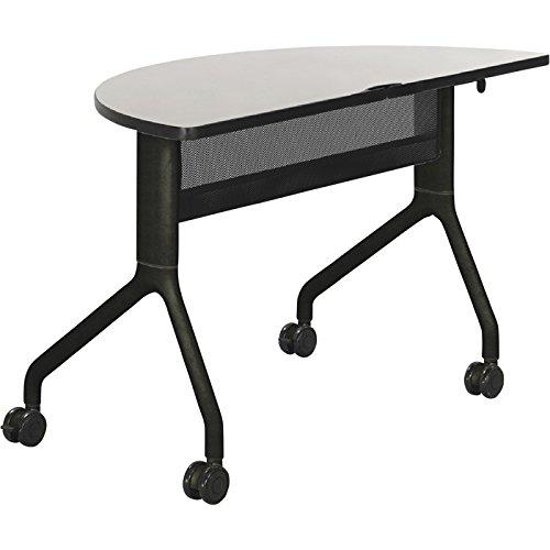 Safco Rumba Half-Round Nesting Table - 48in. x 24in., Gray/Black, Model# 2041GRBL