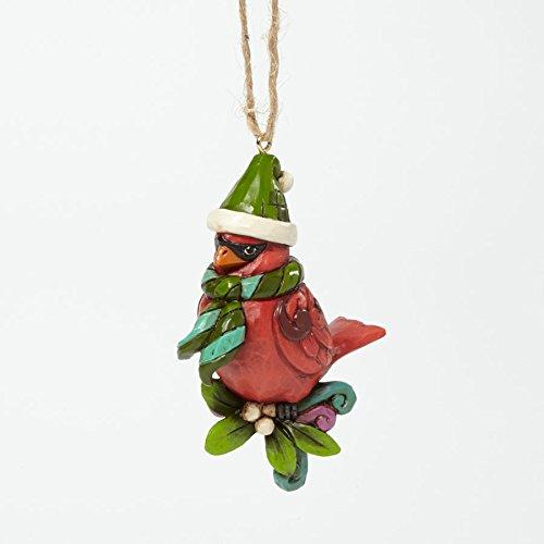 Jim Shore Heartwood Creek Bird on Branch Hanging Christmas tree cardinal ornaments