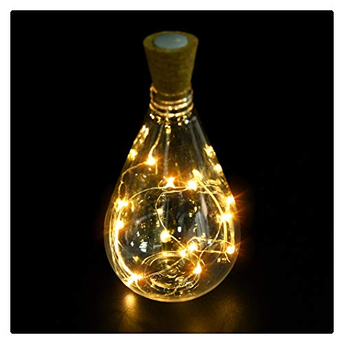 Kanzd Cork Shaped 15 LED Night Light Starry Lights Wine Bottle Lamp for Party Colorful (15 LED -