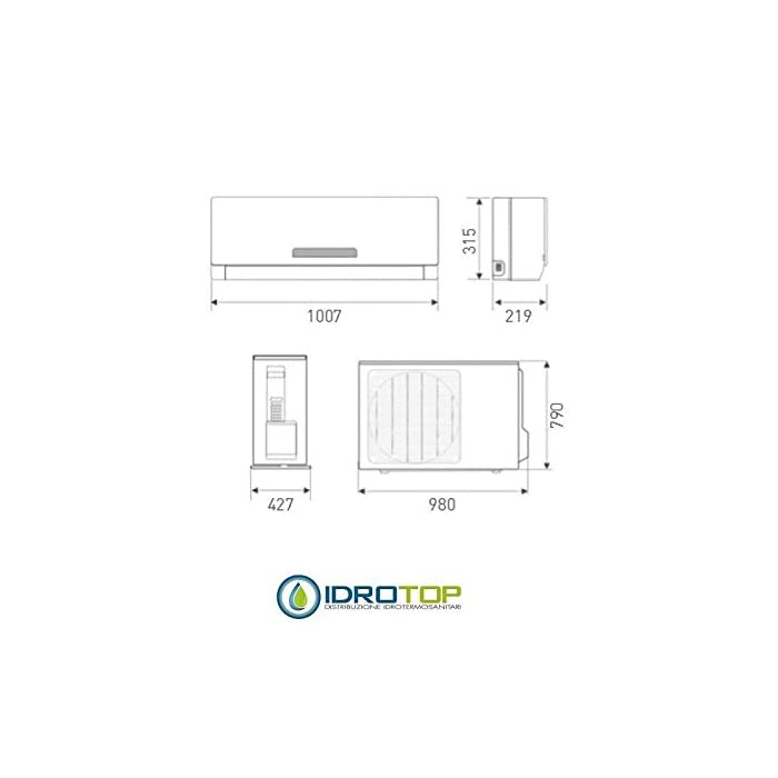 Climatizador aire acondicionado Inverter Bomba de calor Clase A/A Alta eficiencia y bajo consumo
