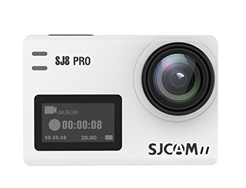 "SJCAM SJ8 Pro Sport Action Camera 4K 60fps Ambarella H22 S85 SONY IMX377 Wi-Fi Sports Cam Underwater Camcorder 12MP 30M Waterproof with High-clarity Digital Zoom 2.33"" Dual Touch Screen-White SJCAM"
