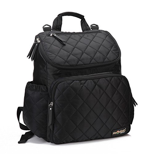 Price comparison product image Bonamana Diaper Bag Backpack Multi-Function Travel Backpack Nappy Bags for Baby Care, Large Capacity (Black)