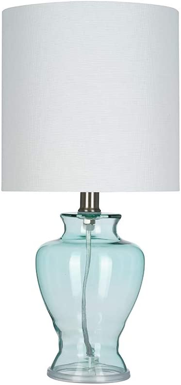Amazon Brand – Ravenna Home Glass Table Lamp, Bulb Included, 16.5
