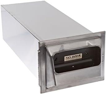 "San Jamar H2001 Stainless Steel In-Counter Fullfold Classic Napkin Dispenser, 750 Plus Capacity, 7"" Width x 19-5/8"" Height x 5-1/2"" Depth, Satin Stainless"