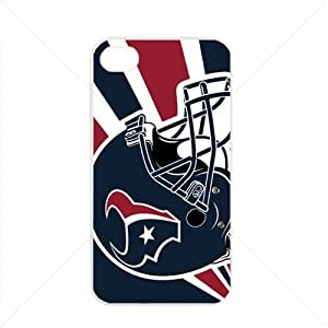 NFL American football Houston Texans Fans Apple iPhone 4 / 4s TPU Soft Black or White case (White)