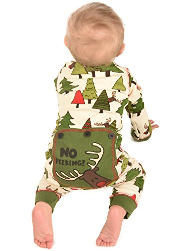 Infant Lazy One Unisex No Peeking! Flapjack Onesie Pajamas