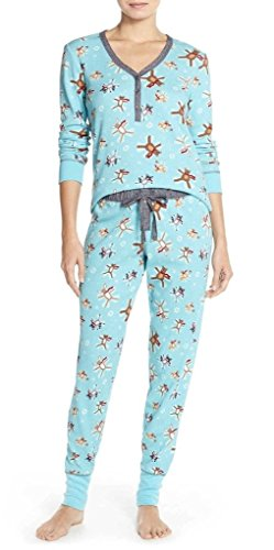 Pj Salvage Thermal Pajama Set, XL, Aqua Snow (Salvage Thermal)