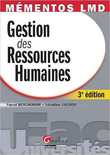 Livre Gestion des ressources humaines pdf ebook