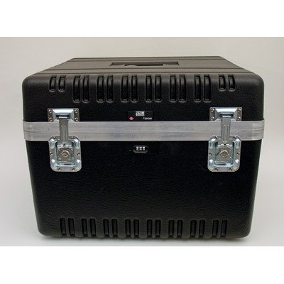 Heavy-Duty ATA Case with Wheels and Telescoping Handle in Black: 23 x 23.13 x 17.5 by Platt