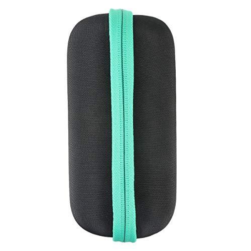 co2crea Hard Travel Case for COMISO Waterproof Bluetooth Speakers Outdoor Wireless Portable Speaker (Black Case + Mint Zipper)