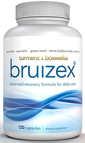 Bruizex Ultra: Extra Strength Bruising Relief Supplement for Recovery from Bruises and Bruised Skin of face, arms, Legs After Trauma, Surgery with Bromelain, Quercetin, Turmeric, Boswellia /120 caps