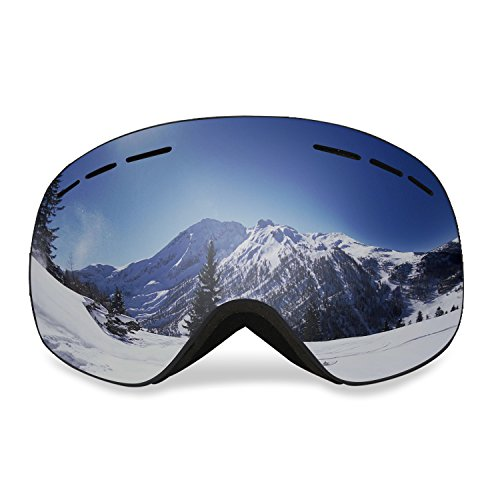 Butterfly Womens Snowboard (Uniquebella Lagopus Magnet Interchangeable Lens Ski Goggles Anti-fog Polarized UV400 Protection OTG Spherical Dual Lens Snow Glasses Helmet compatible for Snowboard Skate Motorcycle Bicycle, Black)