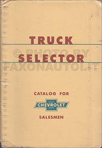 1956 Chevrolet Truck Selector Ordering Guide Original