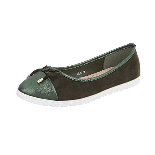 Women's 92 Ital Green Hh Flats Loafer at Design Slippers Flat vnWO5Rn