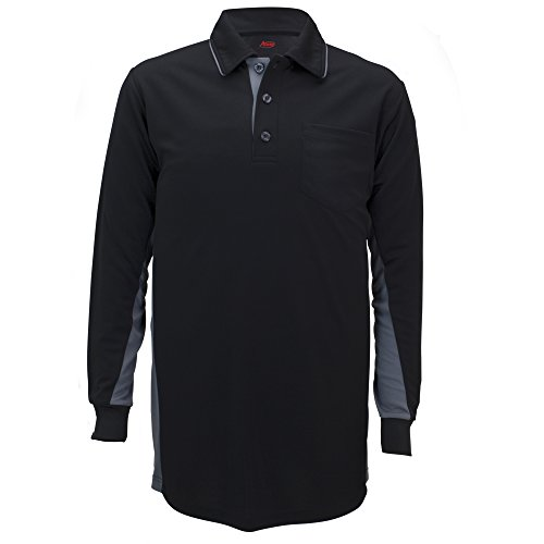 - Adams USA MLB Style Long Sleeve Baseball Umpire Shirt - Sized for Chest Protector, Black, X-Large