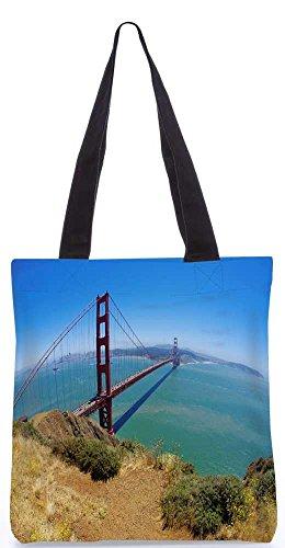 """Snoogg Blaues Wasser Und Dichtstofftasche 13,5 X 15 In """"Einkaufstasche Dienstprogramm Trage Aus Polyester Leinwand"""