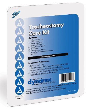 Tracheostomy Tube Care (Dynarex Trach Kit with Gloves Sterile, 20)