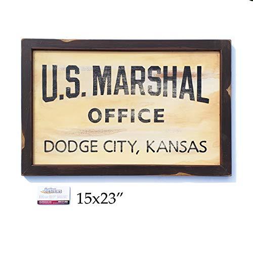 Gunsmoke Marshal Dillon Dodge City hand painted sign]()