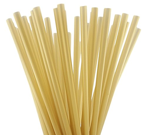 Disposable Soda Straws (7.75 Inch x 0.25 Inch) (250, Gold)
