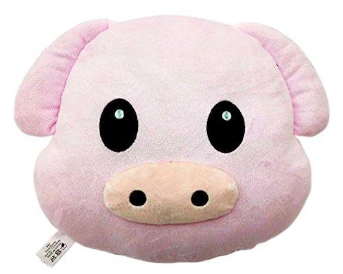 Animal Emoji Smiley Emoticon Round Cushion Pillow Stuffed Cu