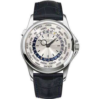 PATEK philipphe mundo oro blanco de 18 K Reloj de Tiempo - 5130 g-019: Patek Philippe: Amazon.es: Relojes