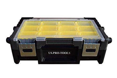colore US Pro tools-Scatola portaoggetti nero giallo-Cassettiera Organizer-Scatola degli attrezzi