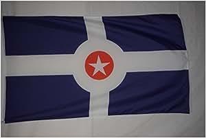 Ciudad de Indianapolis Indiana Estado 3x 5bandera Banner