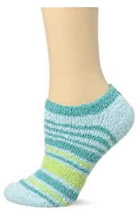 Life is good Women's Locut Stripes Snuggle Socks, Soft Blue, One Size