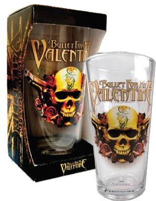Bullet For My Valentine Skull Logo Glass Tumbler Amazon Co Uk