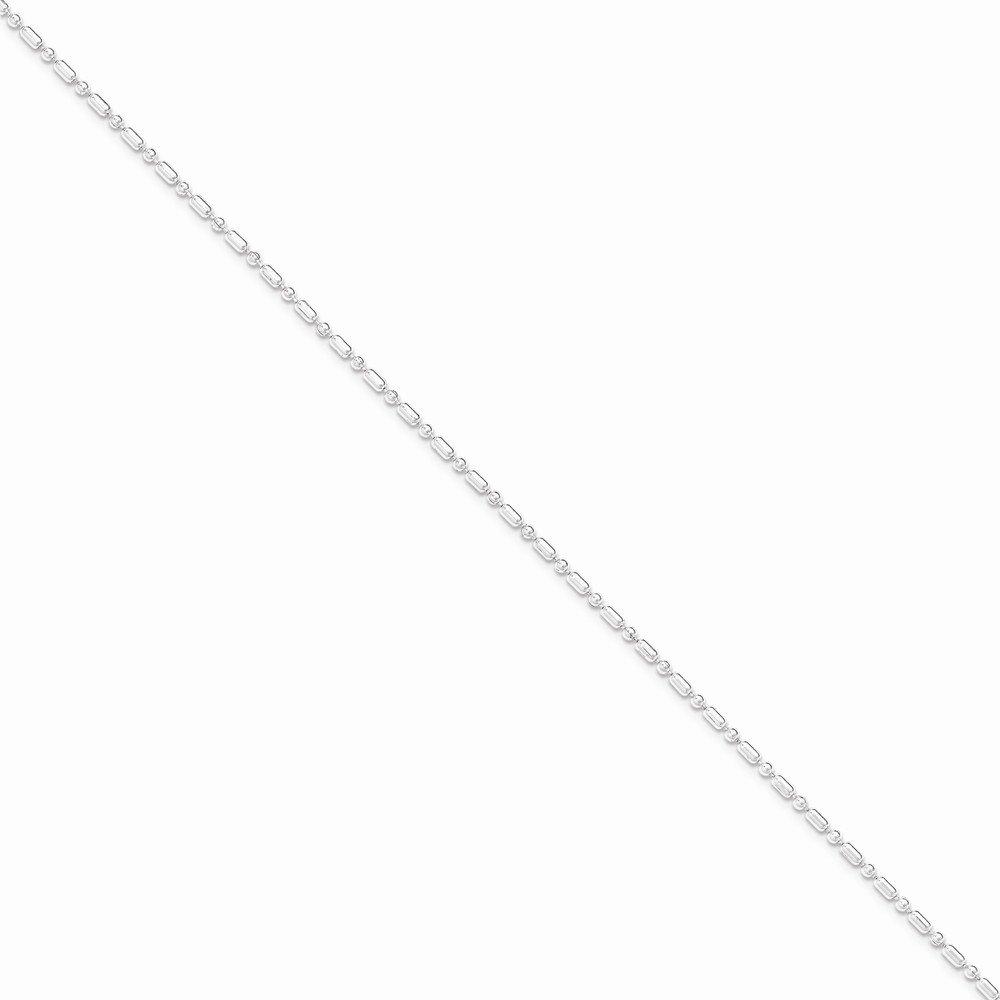 Sterling Silver 2mm Fancy Beaded Chain